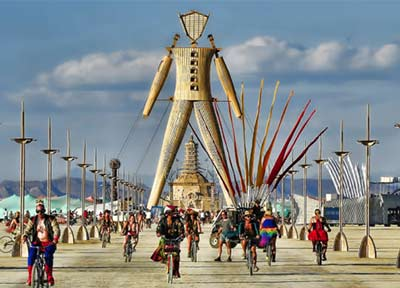 Burning Man in Nevada's Black Rock City