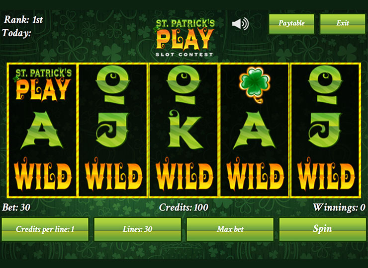 St. Patrick's Play Online Slot Contest