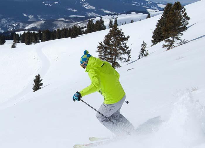 Person skiing on mountain