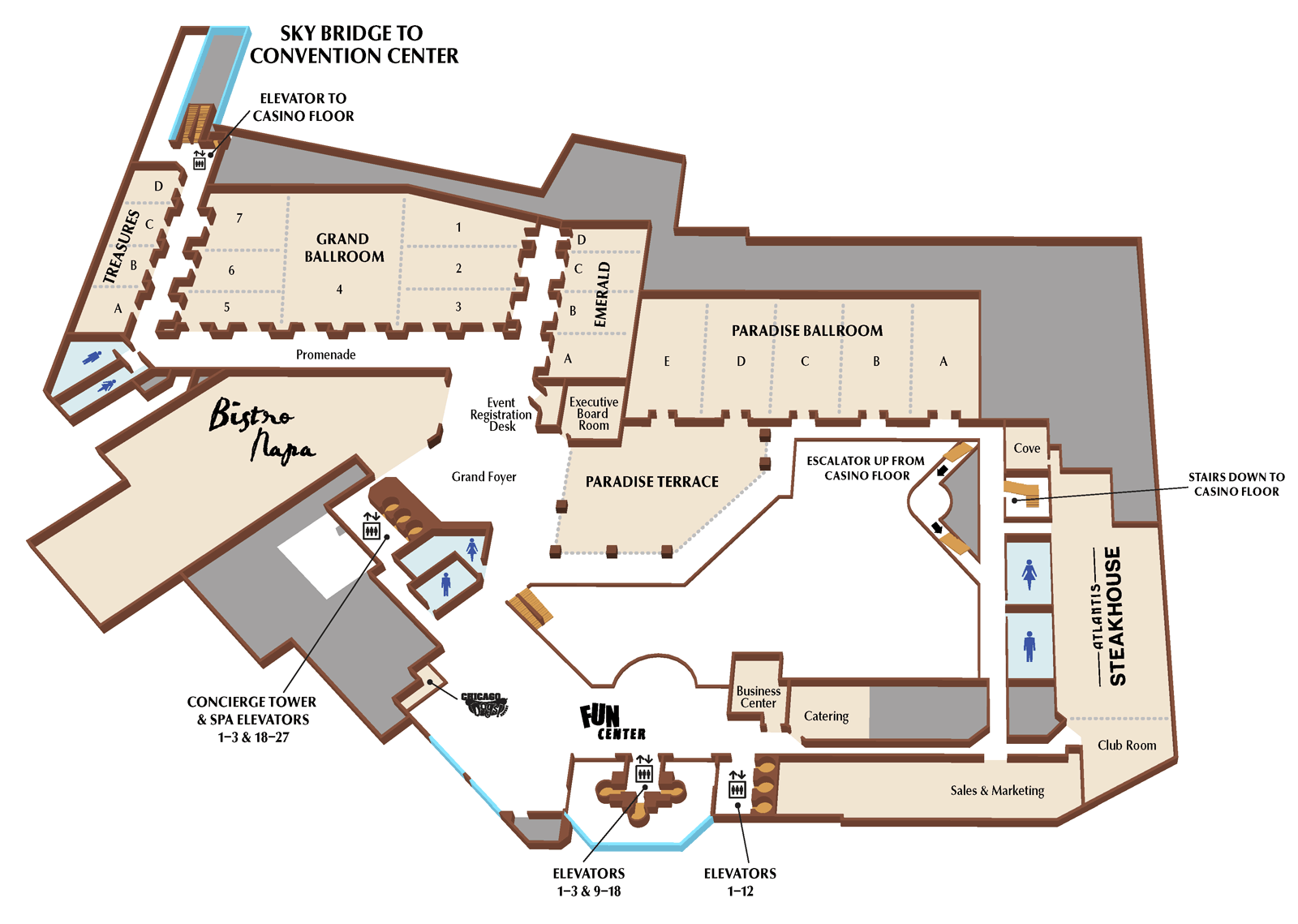 Atlantis second floor plan
